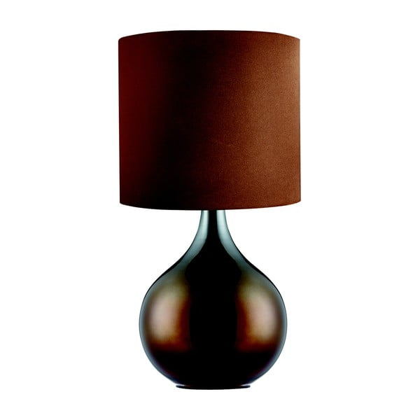 Stolová lampa Searchlight Drum, hnedá