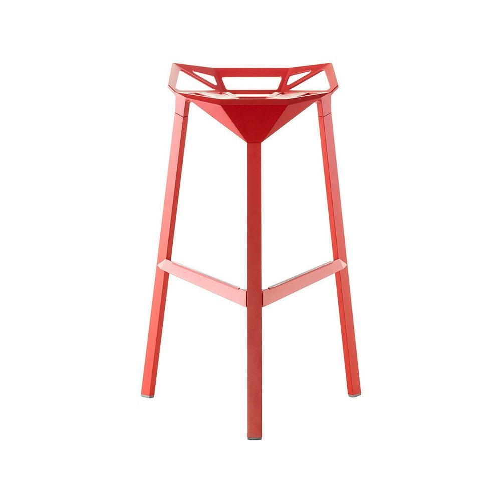 Červená barová stolička Magis Officina, výška 74 cm