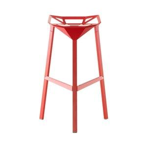 Červená barová stolička Magis Officina, výška 84 cm