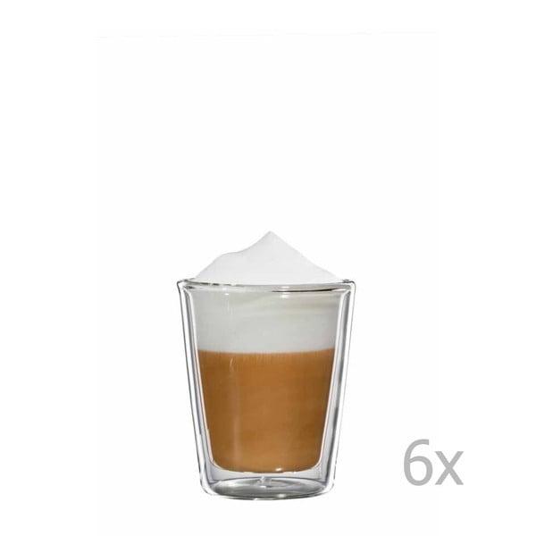 Sada 6 sklenených hrnčekov na cappuccino bloomix Milano