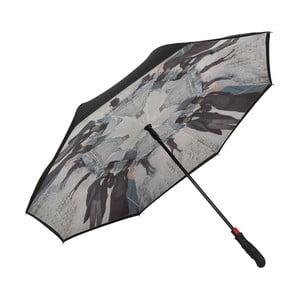 Dáždnik s rúčkou s dvojitou vrstvou Von Lilienfeld Rainy Paris Double Layer
