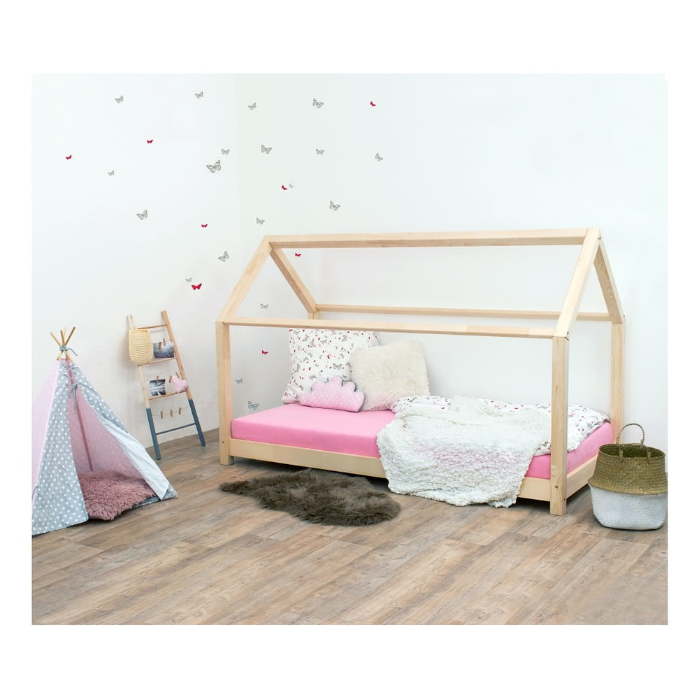 Prírodná detská posteľ zo smrekového dreva Benlemi Tery, 120 × 160 cm