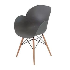 Sivá jedálenská stolička Castagnetti Tulip