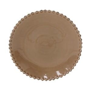 Kakaovohnedý kameninový dezertný tanier Costa Nova Pearl, ⌀23cm