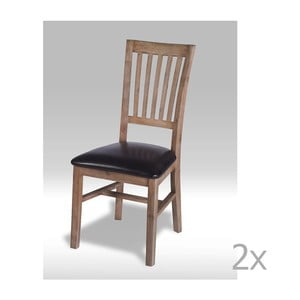 Sada 2 jedálnych stoličiek z akáciového dreva Knuds Alaska