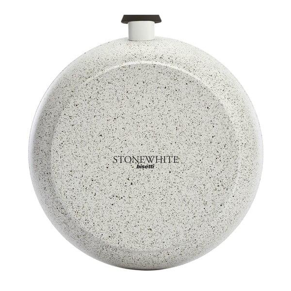 Hrniec s pokrievkou a antikoro úchytmi Bisetti Stonewhite, 24 cm
