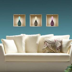 3D samolepky na stenu Vases