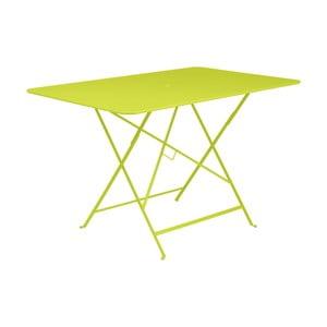 Zelený skladací záhradný stolík Fermob Bistro, 117×77 cm