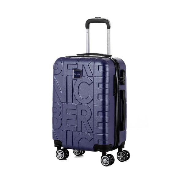 Tmavomodrý cestovný kufor Berenice Typo, 44 l