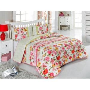 Sada prešívanej prikrývky na posteľ a dvoch vankúšov Double 462, 200x220 cm