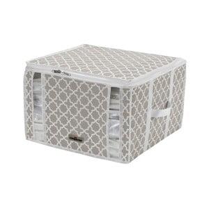 Bielo-béžový úložný box Compactor Compactino, 42 x 40 x 25 cm