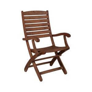 Sada 2 skladacích záhradných stoličiek z eukalyptového dreva Crido Consulting
