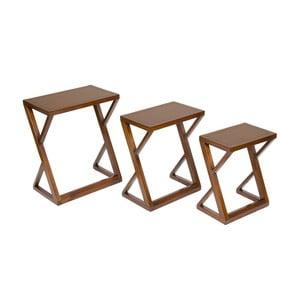 Sada 3 stolíkov z dreva mindi Santiago Pons Classy