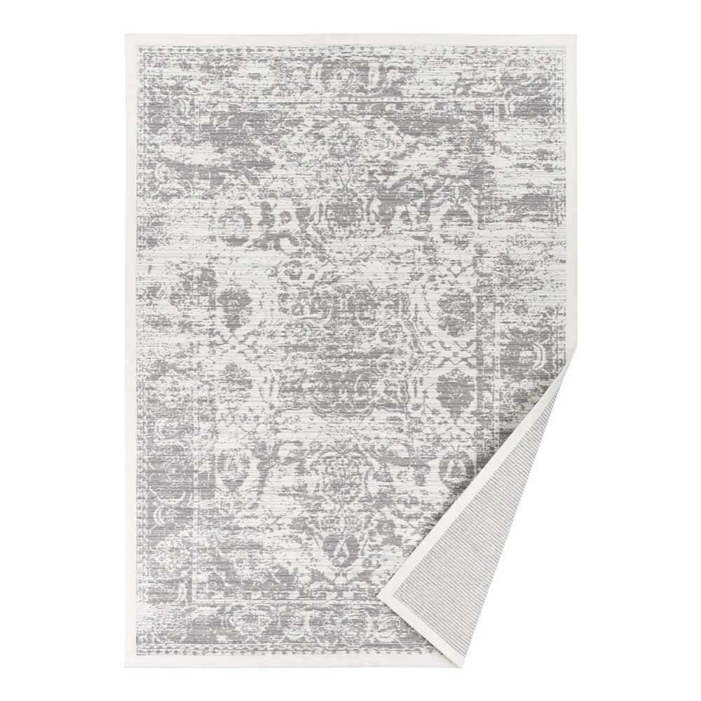 Biely obojstranný koberec Narma Palmse White, 80 x 250 cm