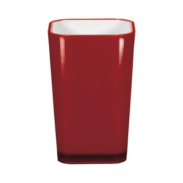Červený pohárik na zubné kefky Kleine Wolke Easy