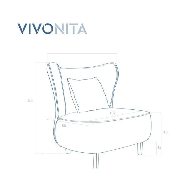 Tmavozelené kreslo Vivonita Douglas Love Seat