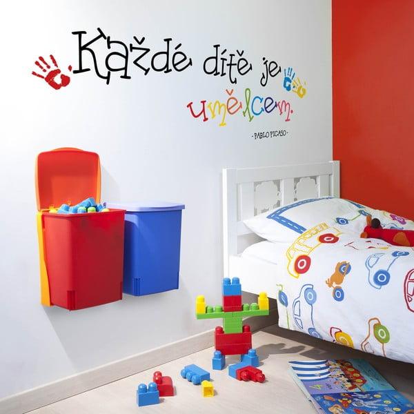 Samolepka na stenu Každé dieťa je umelcom