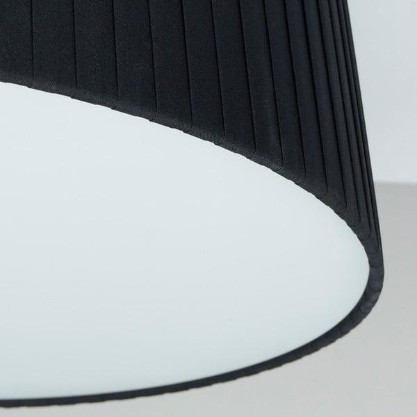 Čierno-biele stropné svietidlo Bulb Attack Dos Plisado, ⌀36cm