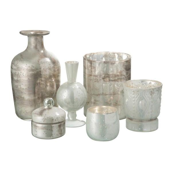 Sklenená antická váza J-Line Nacre White