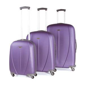 Sada 3 kufrov Tempo, fialová