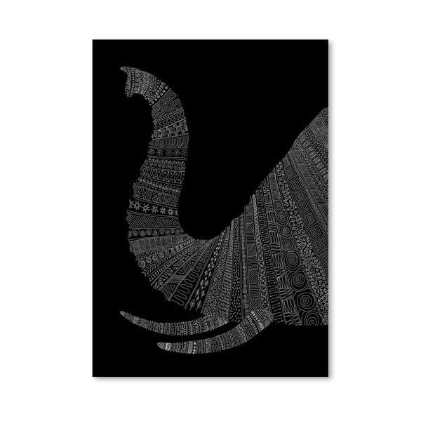 Plagát Elephant (On Black) od Florenta Bodart, 30x42 cm