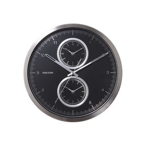 Čierne hodiny Present Time Multiple Time