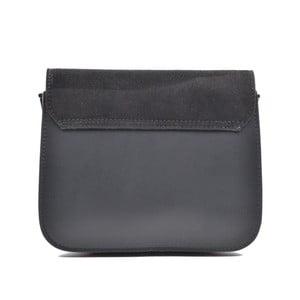 Čierna kožená kabelka Mangotti Zoe