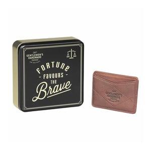 Kožená peňaženka na karty Gentlemen's Hardware Card