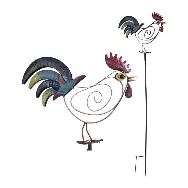 Zapichovacia dekorácia na záhradu Rooster, 132 cm