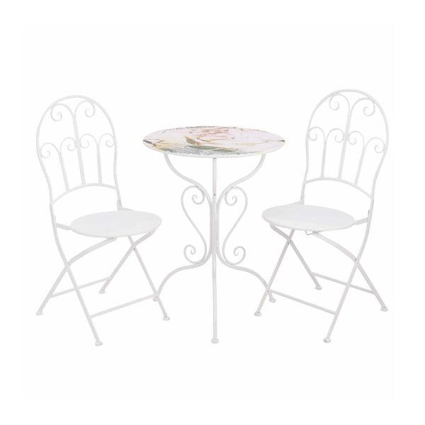 Stolík a 2 stoličky Pink Flower