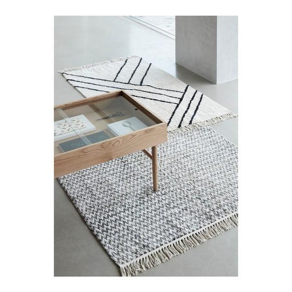 Sivý bavlnený koberec Hübsch Miranda, 127 × 180 cm