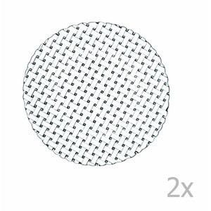 Sada 2 šalátových tanierov z krištáľového skla Nachtmann Bossa Nova, ⌀ 23 cm