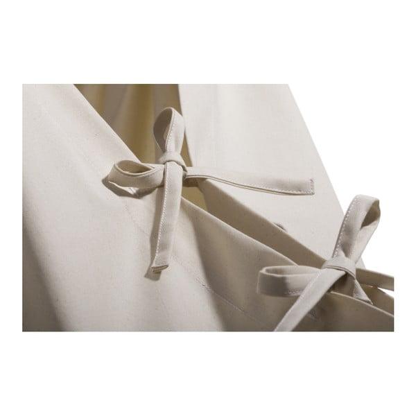 Malá krémová kolíska z bio bavlny so zavesením do dverí Hojdavak Baby (0 až 9 mesiacov)