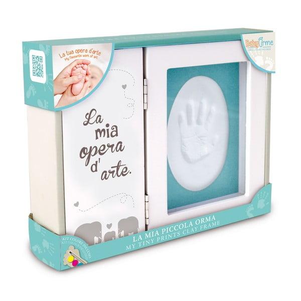 Rámik na odtlačok detskej ruky s farbami Clay Frame