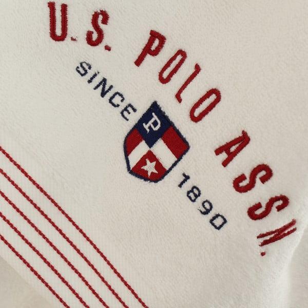 Biela sada dámskeho župana a 2 uterákov U.S. Polo Assn. Nebraska, veľ. M/L