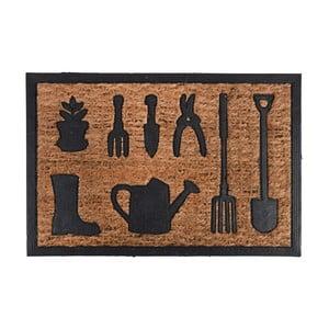 Rohožka z kokosového vlákna s dizajnom záhradného náradia Esschert Design Gardener, 40,3×40,3cm