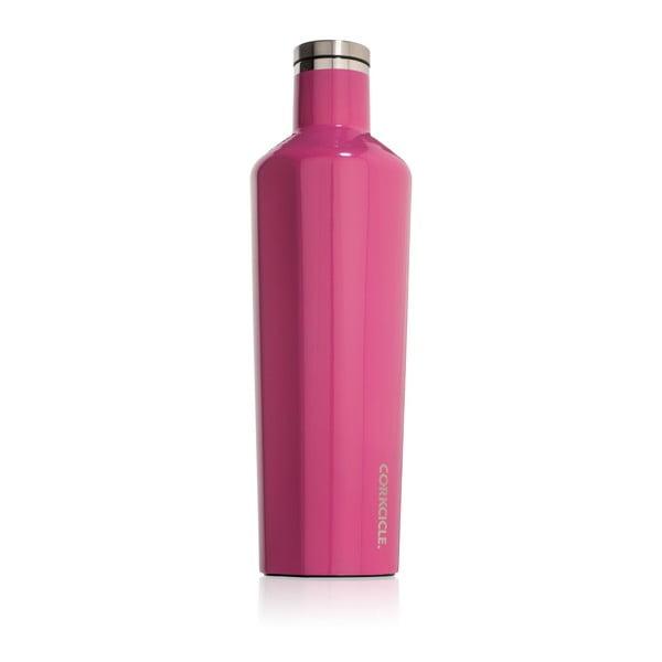Ružová cestovná termofľaša Corkcicle Canteen, 740ml
