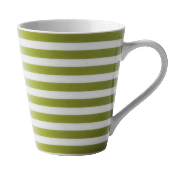 Porcelánový hrnček Lime Striped