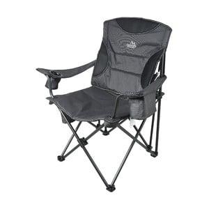 Sivá skladacia kempingová stolička Cattara Merite