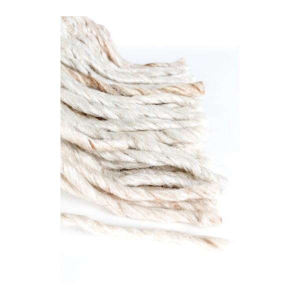 Béžový vankúš s výplňou Zuiver Fringe, 45 × 45 cm