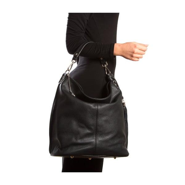 Kožená kabelka Isabella Rhea 1152, čierna