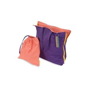 Skladací sedák Hhooboz 100x50 cm, fialový