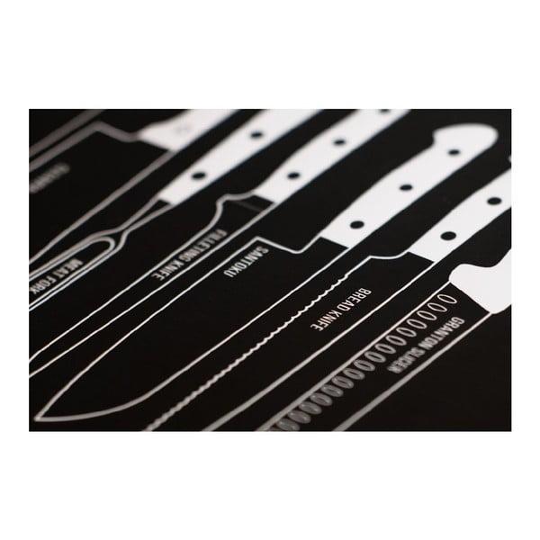 Plagát Follygraph Knives Black 70x100 cm