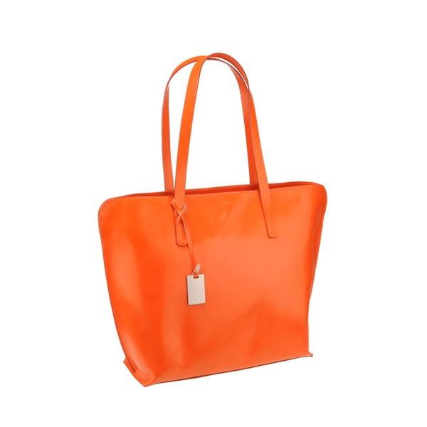 Kožená kabelka Vega, oranžová