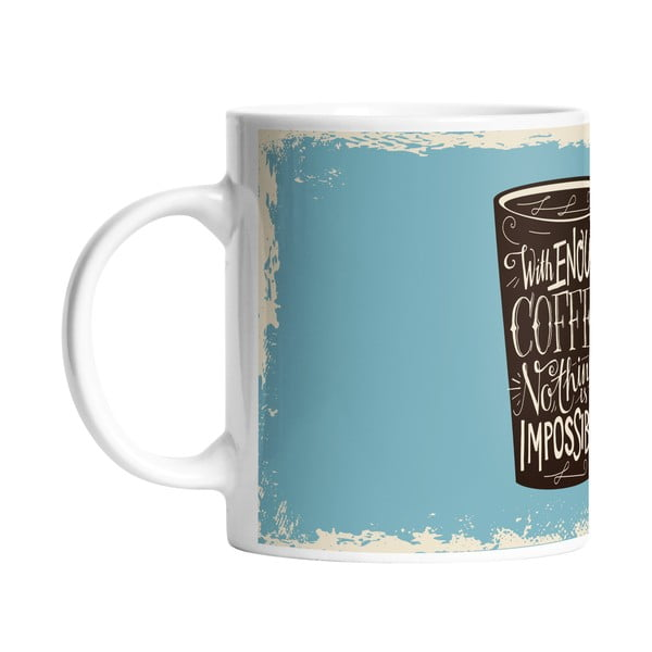 Keramický hrnček Butter Kings Enough Coffee, 330 ml