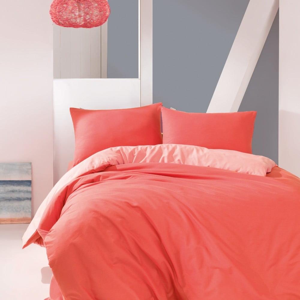 Bavlnené obliečky na jednolôžko Suzy Coral, 160 × 220 cm