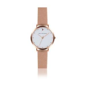 Dámske hodinky s remienkom z antikoro ocele v ružovozlatej farbe Emily Westwood Birdie