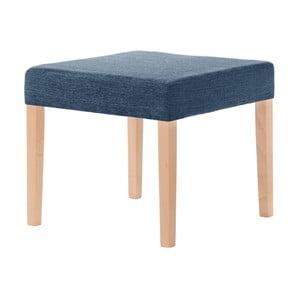 Denimová modrá stolička s hnedými nohami Ted Lapidus Maison Pétale