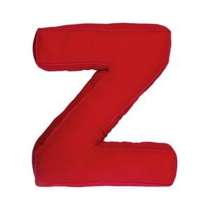 Látkový vankúš Z, červený