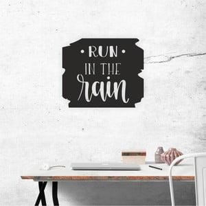 Čierna nástenná samolepiaca dekorácia North Carolina Scandinavian Home Decors Run Motto, 40×34 cm